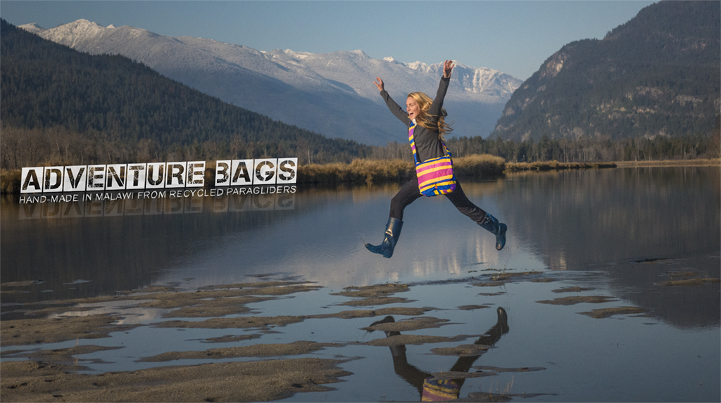 Cool new bags, hand-made from Recycled Paragliders!